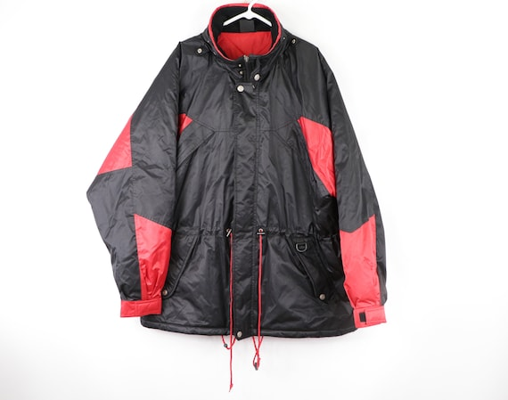 90s Marlboro Spell Out Hooded Puffer Parka Jacket