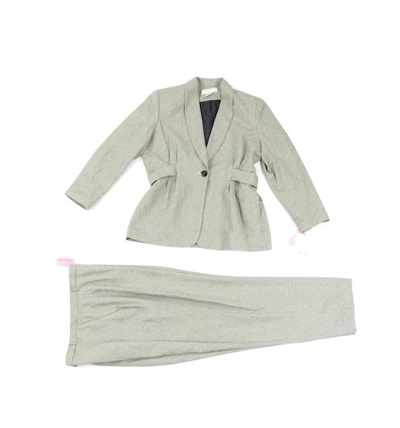 90s NOS Larry Levine Knit 2 Piece Blazer Pant Sui… - image 1