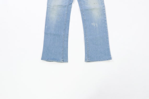 70s Lee MR Distressed Faded Flare Wide Leg Jeans … - image 3