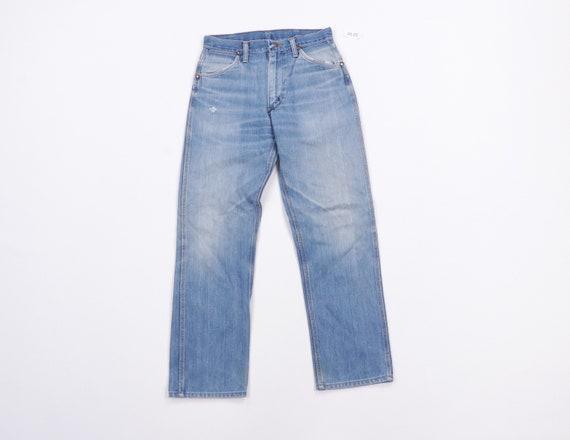 70s Wrangler Distressed Faded Straight Leg Denim J