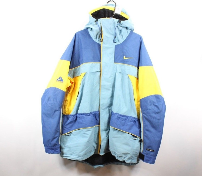 buy popular d5bc7 617cb 90s Nike ACG Spell Out Color Block Full Zip Hooded Parka  Et