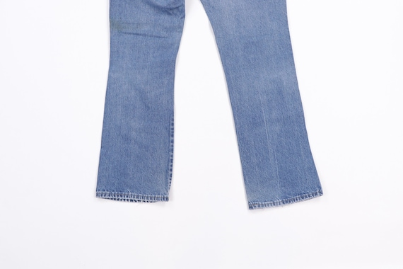 70s Rustler Distressed Bootcut Denim Jeans Blue U… - image 8