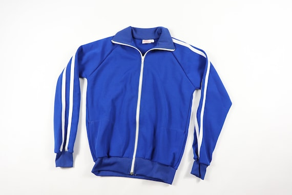 70s New Andia Youth Large Full Zip Striped Warm Up