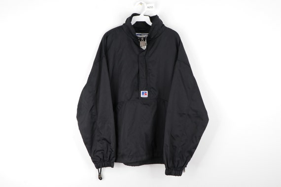 90s Russell Athletic Spell Out Hooded Anorak Jacke
