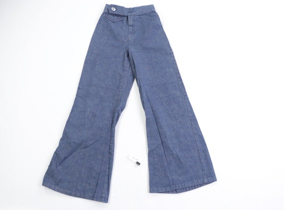 70s Distressed High Rise Flared Leg Bell Bottom J… - image 1