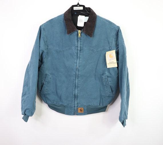 90s New Carhartt Lined Corduroy Collar Work Jacket