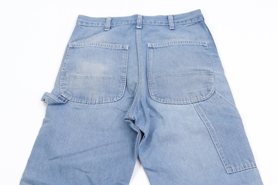 70s Sears Distressed Faded Carpenter Denim Jeans … - image 9