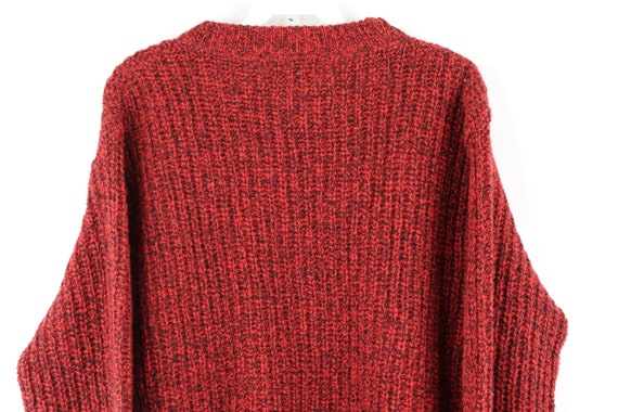 80s LL Bean Wool Knit Long Sleeve Crewneck Sweate… - image 6