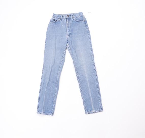 80s Lee Riders Distressed Skinny Straight Leg Jean