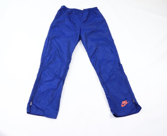 70s Nike Spell Out Swoosh Logo Nylon Swishy Pants