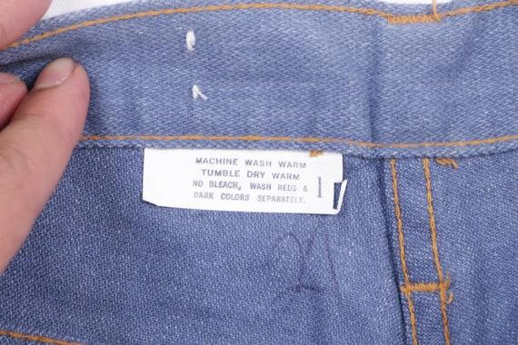 70s High Rise Flared Bell Bottom Denim Jeans Blue… - image 5