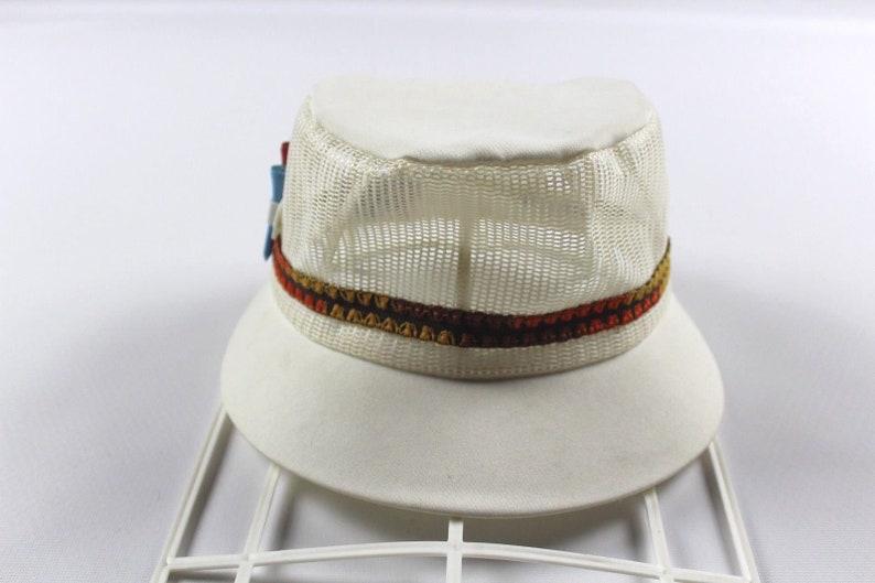 80s GTH Caddyshack Tee Holder Mesh Golfing Golf Hat Cap White  d1e0a5e6b0e
