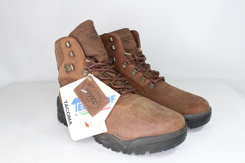 1daac783a2d 90s New Hi-Tec Mens 9.5 Tacoma Leather Mid Rise Waterproof Hiking Boots  Brown Hi-Tec Boots, 90s Hiking Boots, Hi-Tec Hiking Boots, 90s