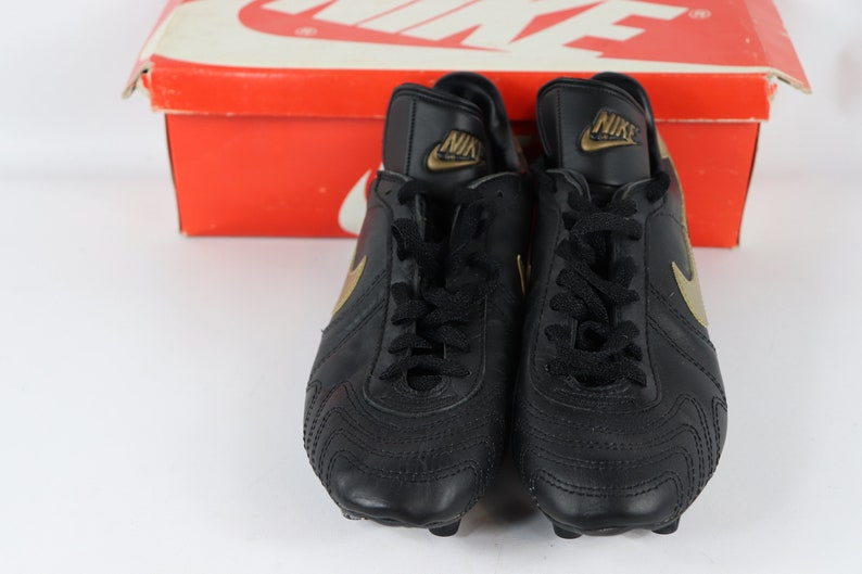 eb05b65181d14 80s New Nike Hotpur Soccer Shoes Removable Cleats Black Gold Mens, 80s  Nike, 80s Nike Shoes, 80s Soccer Shoes, 80s Soccer, 80s Clothing,