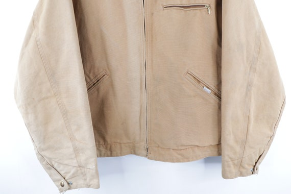 90s Carhartt Spell Out Distressed Faded Corduroy … - image 3