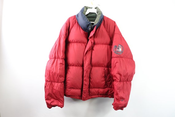 90s Nautica Spell Out Reversible Down Filled Puffe