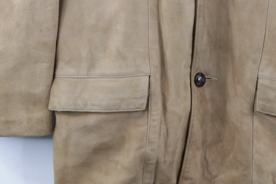 70s Rockabilly Lined DuPont Quilon Suede Leather … - image 4