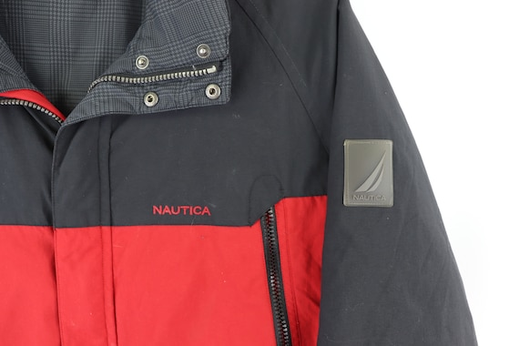 90s Nautica Spell Out Reversible Down Fill Puffer… - image 6