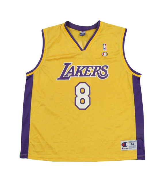 90s Champion Los Angeles Lakers Kobe Bryant #8 Bas
