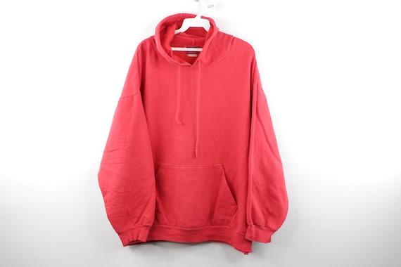 90s Streetwear Distressed Faded Blank Hoodie Sweat