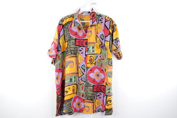 90s Streetwear Fresh Prince Abstract Floral Print