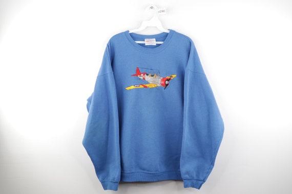 90s Streetwear Stitched US Naval B 75 Airplane Swe