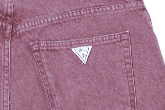 90s Guess Streetwear Spell Out Stone Wash Denim S… - image 7