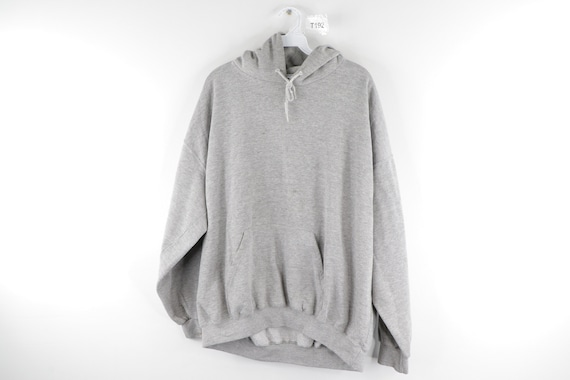 90s Streetwear Blank Long Sleeve Hoodie Sweatshirt