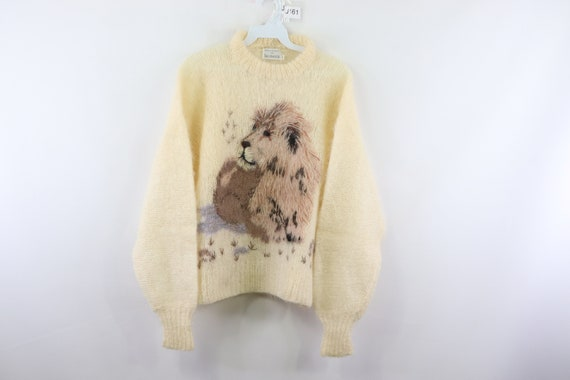 50s Jacobsons Mohair Lion Stitch High Neck Sweater