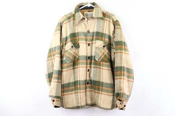 70s Rockabilly Sherpa Lined Double Pocket Wool Pla