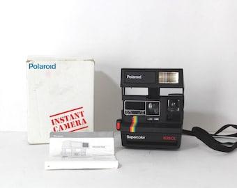 90s Polaroid Supercolor 635CL Instant Camera Photo with Box, Vintage Polaroid Camera, Instant Camera, Polaroid Film Camera, Color Camera