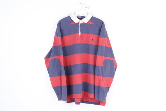 90s Ralph Lauren Distressed Faded Long Sleeve Rugb