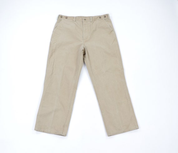 50s CC Filson Tin Cloth Suspender Hunting Pants Sl