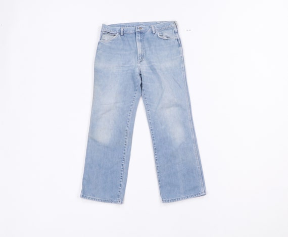 70s Wrangler Distressed Faded Bootcut Denim Jeans