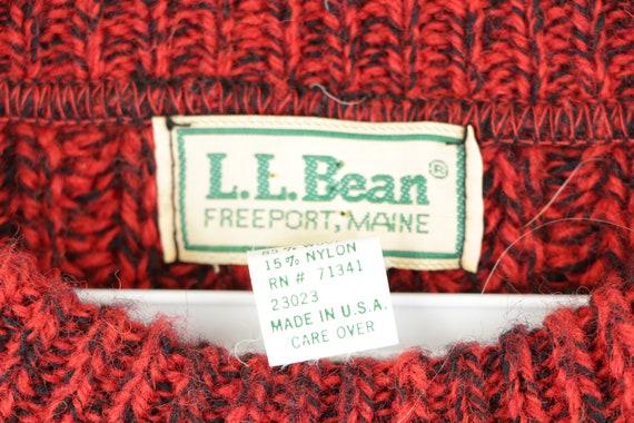 80s LL Bean Wool Knit Long Sleeve Crewneck Sweate… - image 4