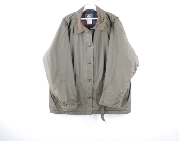 80s Woolrich Outdoor Wool Lined Chore Barn Jacket