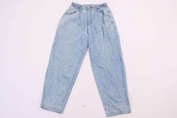 80s Jordache Distressed Fading Tapered Leg Cropped