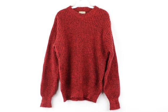 80s LL Bean Wool Knit Long Sleeve Crewneck Sweater