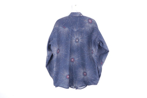 70s Rockabilly Starburst Western Pearl Snap Butto… - image 5