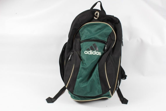 90s Adidas Big Logo Spell Out Soccer Ball Holder Backpack Book