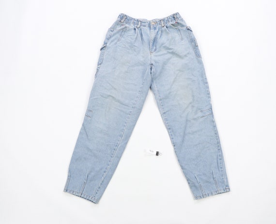 90s Streetwear Distressed Faded Tapered Leg Cargo