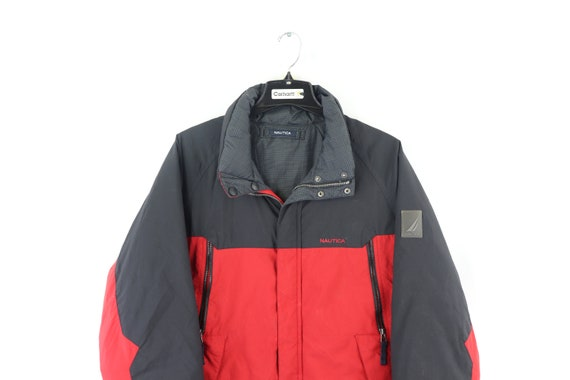 90s Nautica Spell Out Reversible Down Fill Puffer… - image 5