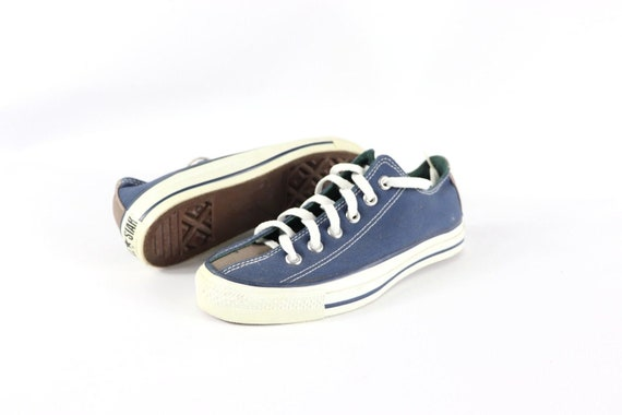 Details about Vintage Converse ALL STAR Made in USA Low Top Shoes Size 5.5 Blue