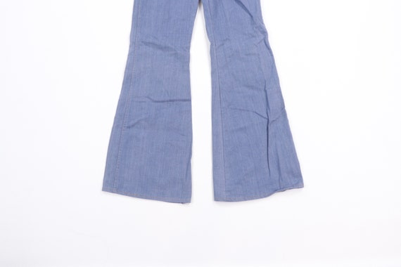 70s High Rise Flared Bell Bottom Denim Jeans Blue… - image 3