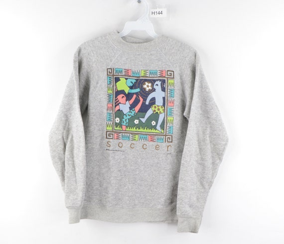 90s Streetwear Abstract Soccer Spell Out Tri-Blend