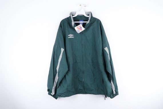 NOS 90s Umbro Spell Out Taped Logo Windbreaker Jac