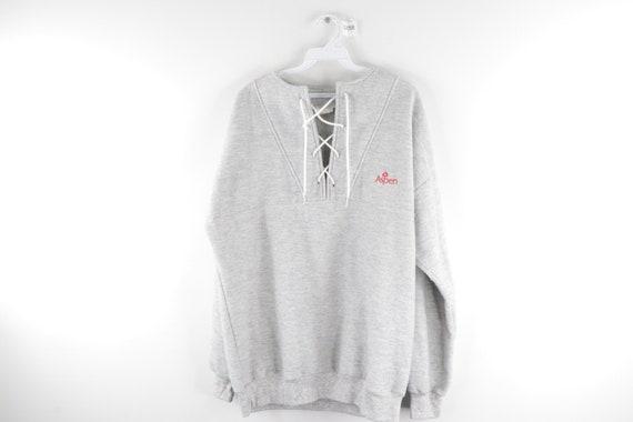 90s Streetwear Aspen Colorado Stitched Ski Pullove