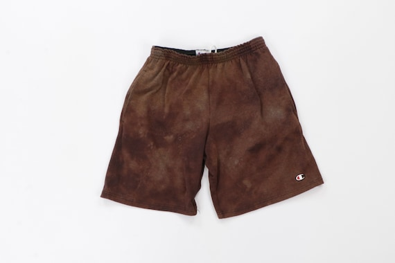 "90s Russell Athletic 7"" Distressed Acid Wash Short"