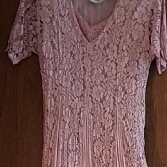Vintage romantic lace Nostalgia dress lovely rose