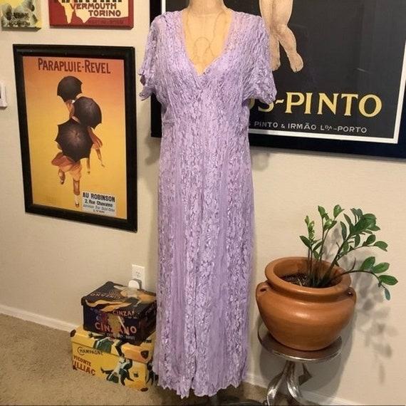 Lola P. Vintage Lace Dress Lavender lace Dress